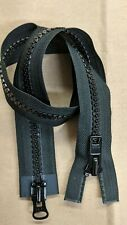 "Size #10 YKK Black 2-WAY ZIPPERS, (2 Sliders), 2-way 24"" 30"" 36"" & 48"""