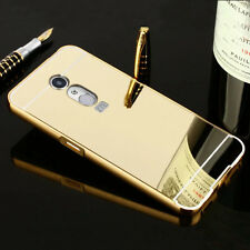 Gold Aluminum Metal Bumper Mirror Hard Back Case Cover For Various Mobile Phone