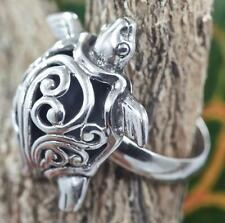 Handmade Solid Sterling Silver .925 Bali Filigree Turtle Dome Ring.