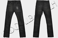 SAINT LAURENT 590$ Authentic New Skinny Black Light Coated Stretch Denim Jeans