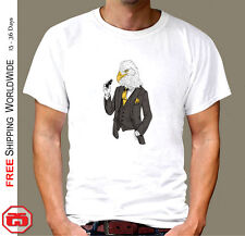 Cool Eagle dressed up T SHIRT COOL Cotton White Short sleeve 5 Sizes T079