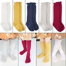 5Colors 5Pairs Knee High Cable Knit Cotton Sock Newborn Baby Girl Boy Toddler