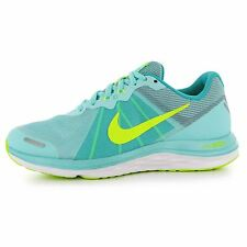 Nike Dual Fusion X2 Running Shoes Womens Turquoise/Volt Run Trainers Sneakers