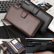 PU Leather Wallet Bifold ID Card Holder Purse Checkbook Long Clutch Billfold XP
