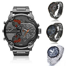 Mens Fashion Luxury Stainless Steel Sport Analog Quartz Military Wrist Watches