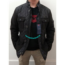 NWT ARMANI JEANS MENS QUILTED NYLON & FLANNEL PUFFER JACKET SIZE L(EU52)
