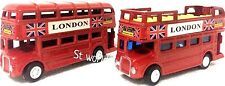 LONDON DOUBLE DECKER RED BUSES/ LONDON BLACK TAXI & BUS DIE CAST METAL TOY