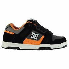 DC Shoes Stag Skate Shoes Mens Grey/Black/Orange Trainers Sneakers Footwear