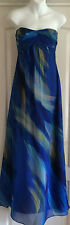 NEW~MONSOON~MEGANISI MAXI OCCASION DRESS DETACHABLE STRAPS LINED GREEN BLUE