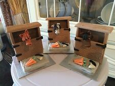Edible Stable horse, riders and accessory Cake Topper Decorations