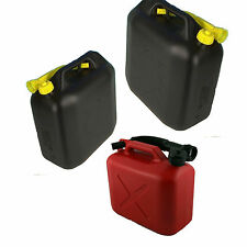 5L 10L 20L Litre PLASTIC JERRY CAN FUEL OIL WATER PETROL DIESEL WITH A SPOUT