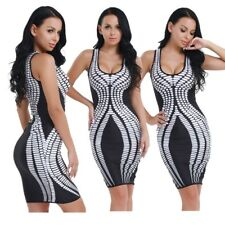 Women Summer Sleeveless Bodycon Cocktail Evening Party Short Mini Dress Fashion