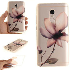 Magnolia Flower Pattern Rubber Soft TPU Phone Back Case Cover For Various Phones