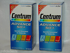 CENTRUM ADVANCE Adult 50+ A - Zinc Multi Vitamin MINERALS 100 or 200 TABLETS New