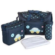 4x Baby Diaper Nappy Bag Mummy Tote Handbag with Changing Pad and Bottle Holder