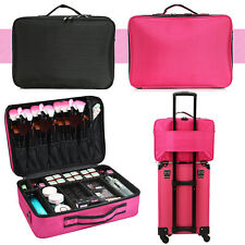 Professional Beauty Makeup Case Nylon Cosmetic Vanity Carry Box Travel Organiser