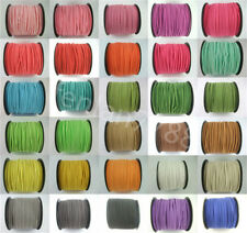 5/100 Yards Korea Faux Suede Cord Flat Leather Cord Bracelet Necklace Rope C3F