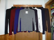 Long Sleeve Ribs Sweaters Turtleneck Croft & Barrow 2XL,XL,L,M,Many Solid Color
