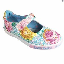 Lelli Kelly Rosie LK4056 Girls New Light Blue Summer Canvas Floral Size 24 - 33