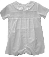 Petit Ami Easter Baby Boys Romper White Smocked and Hat NWT Infant Sizes