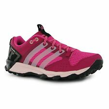 adidas Kanadia 7 Running Shoes Womens Pink/Pink Trainers Sneakers Sports Shoe