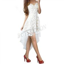 Fashion Women Summer Sleeveless Lace Evening Party Cocktail Short Mini Dress