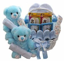 NEW Double Fun Twin New Baby Infant Pink Blue Boy & Girl Shower Gift Basket Set
