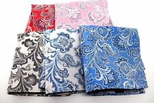 """New 10"""" Inches 100% Silk Men's Pocket Square US Paisley"""