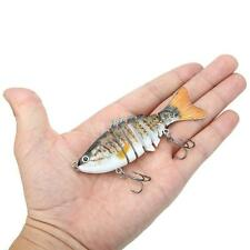 Lixada SUN-FISH Lifelike Bait Bass Yellow Perch Walleye Pike Fishing Lure H2N8