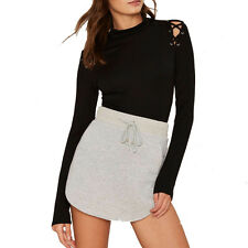 Women Fashion Black Long Sleeve Romper Knitted Jumpsuit Playsuit Party Bodysuits