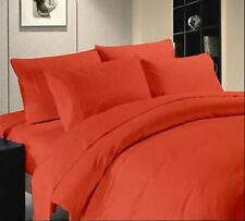 THREAD TREASUREs NEW ORANGE SOLID BEDDING COLLECTION 1000TC 100% COTTON - OS01