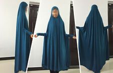 Kids Girls Abaya Muslim Hooded maxi dress Islamic Clothing Loose Kaftan Clothes