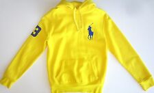 Polo Ralph Lauren Men Hoodie Size S L Yellow Pullover bg Pony Fleece Sweater Nwt