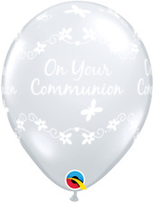 """On Your Communion Butterflies Qualatex 11""""  Latex Balloons Choose Colour & Qty"""