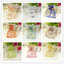 20/50/100pcs Luxury Jewelery Pouches Packing Organza Gift Bags Wedding Party