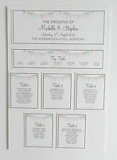 Wedding Place Card * Table Number * Menu * Camera Card * Table Plan * Signs *CS3