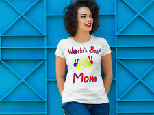 Worlds Best Gift DIY Handprint Shirt Perfect for Mother's and Father's Day