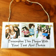 8x4'' Handmade Personalised Photo Plaque Sister Friend Gift Family Shabby Chic