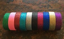 BATON TWIRLING SPARKLE TAPE ROLL STICKY BACK DECORATE BATON SHAFT BRIGHT COLORS