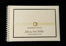 A5 Personalised Guest Book Tegan in Window Box + Optional Sign