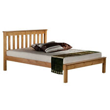 Denver Bed Frame - King Size 4ft6 - Natural Wood, Headboard
