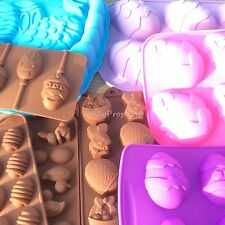 Easter Egg Bunny Silicone Mold Bakeware Pastry Chocolate Cake Candy Jelly Soap