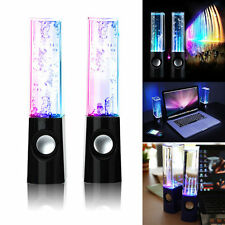STEREO MUSIC LED DANCING WATER FOUNTAIN LIGHT SPEAKERS FOR IPAD IPHONE PC UK