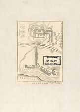 Photo Reprint Antique American Military Map Fort De Russy