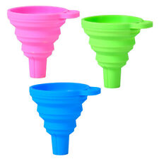Mini Silicone Gel Collapsible Foldable Funnel Hopper Practical Kitchen Tool