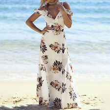 Women Sexy Backless Fashion Halter Embroidered Party Long Maxi Summer Dress