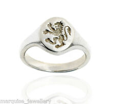 925 Sterling Silver Gents Signet Ring - Scottish Lion Rampant.