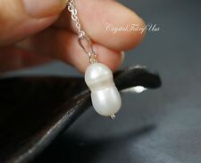 Unique Pearl Necklace - Sterling Silver Freshwater Pearl Necklace - Peanut Pearl