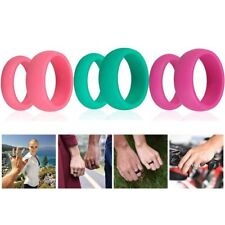 3pcs/Set Silicone Rubber Band Ring Pink Green Rosa Lover Ring Party Club Outdoor