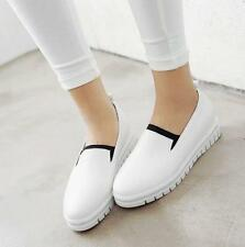 Womens Slip On Round Toes Fashion skate board Sneakers Casual Shoes wedge heel
